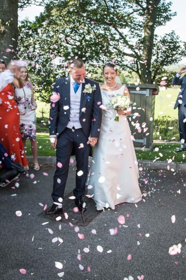 Confetti at 315 Wedding Huddersfield