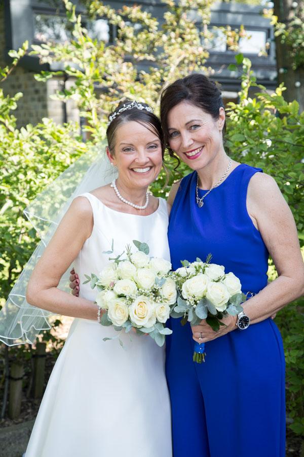 Bride and bridesmaid 315 Wedding Huddersfield