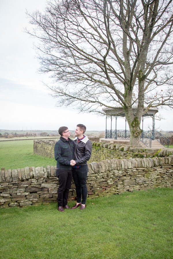 Pre-wedding photography session at Cubley Hall