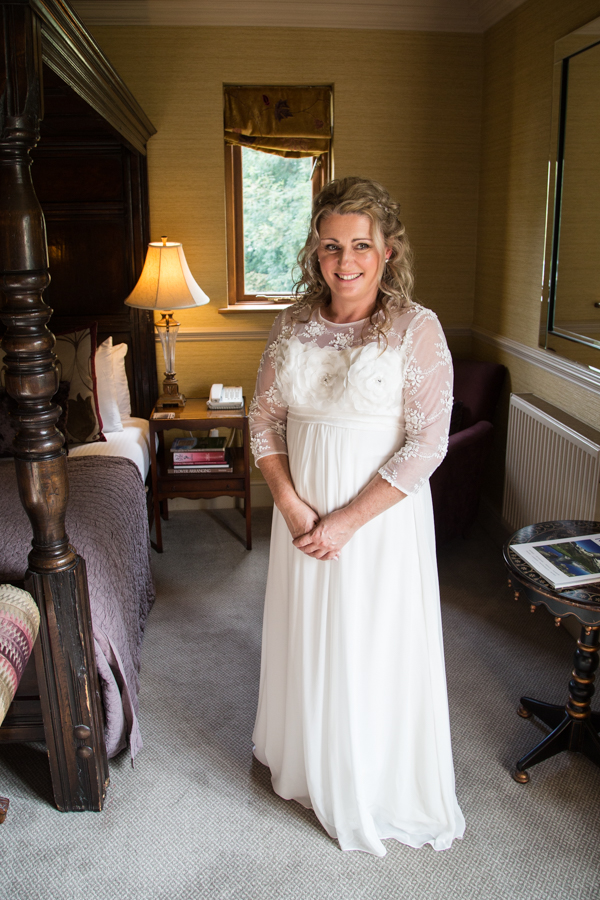 Bride in the bridal suite at Whitley Hall Wedding