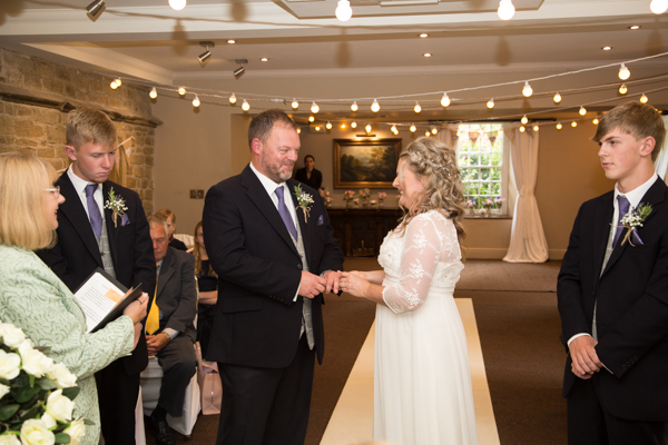 Parker Suite wedding ceremony at Whitley Hall Wedding