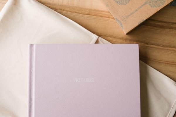 blush wedding albums sample cover
