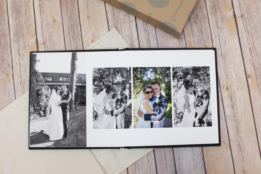sample spread wedding albums