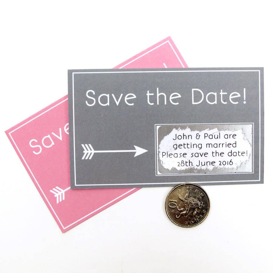 Alternative wedding invitation scratch card