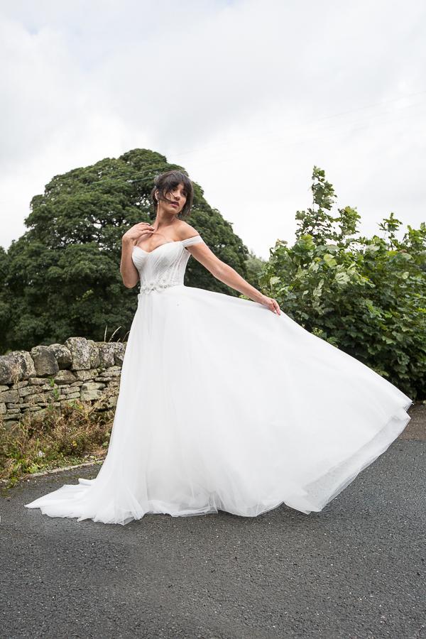 Angel Couture Bespoke Wedding Dress Penistone Sheffield Photography Shoot