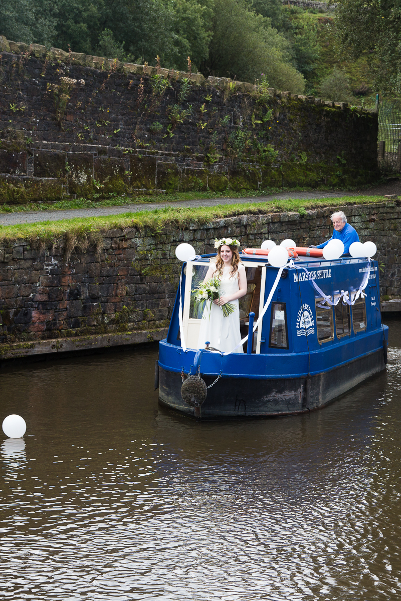 Canal Boat from Huddersfield Canal at Standedge Tunnel Styled Shoot