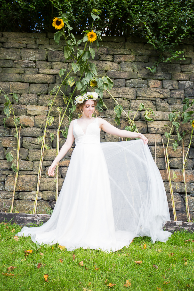 Bijou Bridal Boutique Wedding Dress at Standedge Tunnel Styled Session