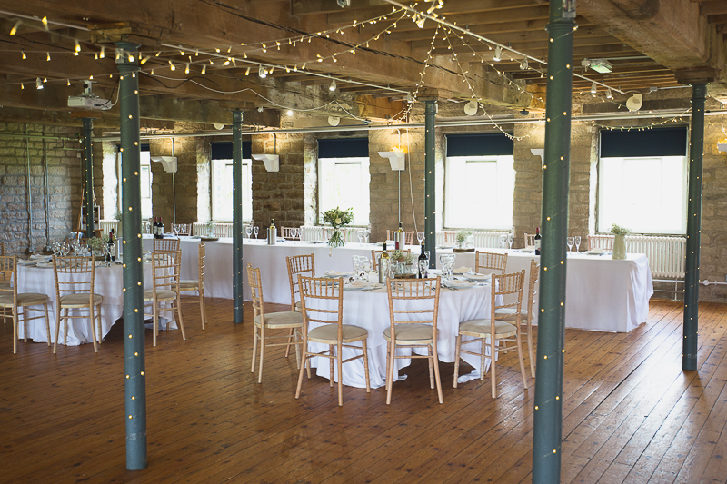 Reception room at Standedge Tunnel Weddings