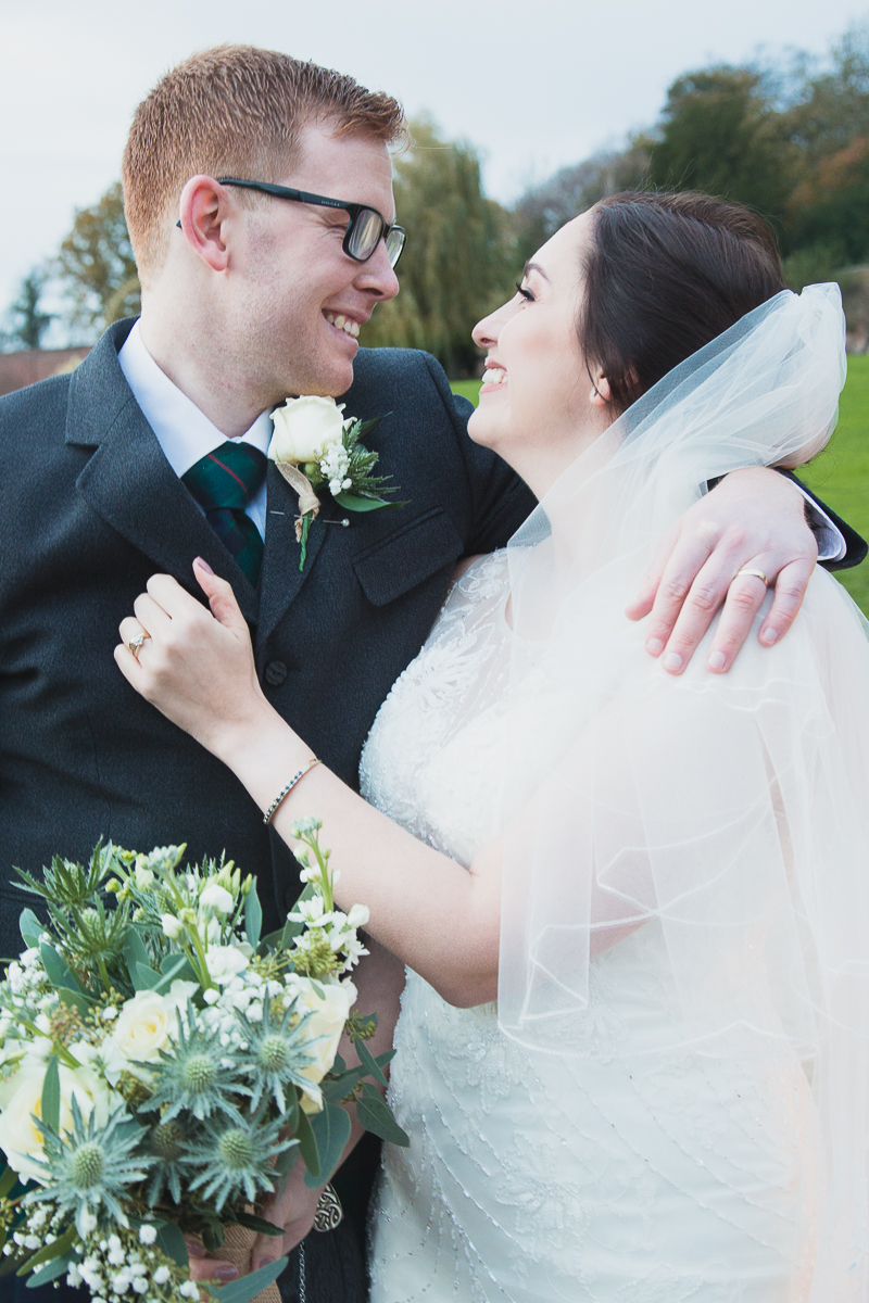 Couple portraits at Yorkshire Sculpture Park Wedding West Yorkshire