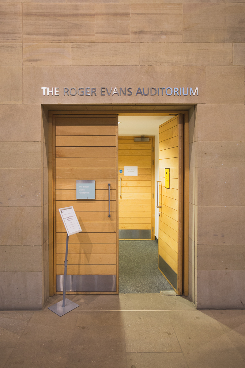 The Roger Evans Auditorium Entrance YSP