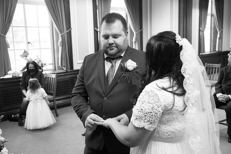 Wedding ceremony at Barnsley Town Hall Wedding