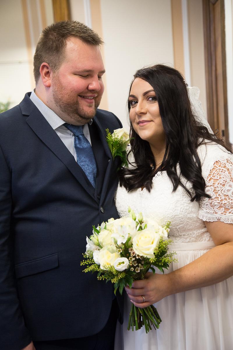 Newlyweds at Barnsley Town Hall Wedding
