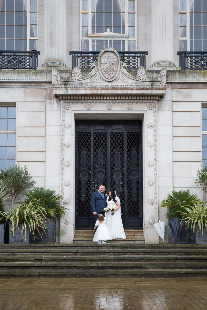 Couple newly married at Barnsley Town Hall Wedding