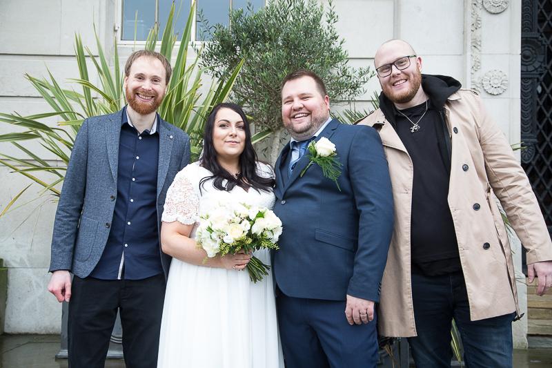 Group Photgraphs at Barnsley Town Hall Wedding