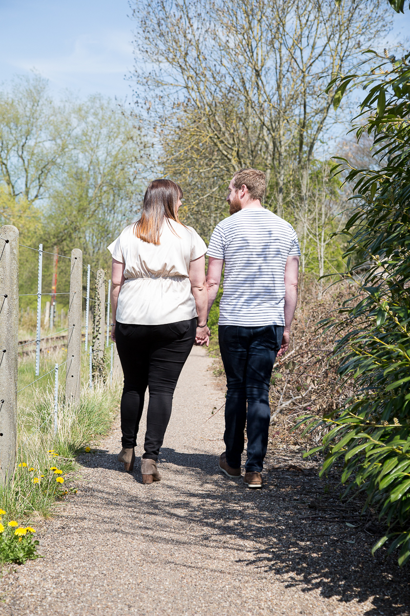 Couple walking down a path Wedding Photographer South Yorkshire