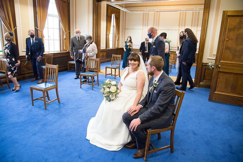 The ceremony room at Barnsley Town Hall wedding Photographer South Yorkshire