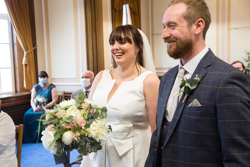 Wedding ceremony at Barnsley Town Hall wedding Photographer South Yorkshire