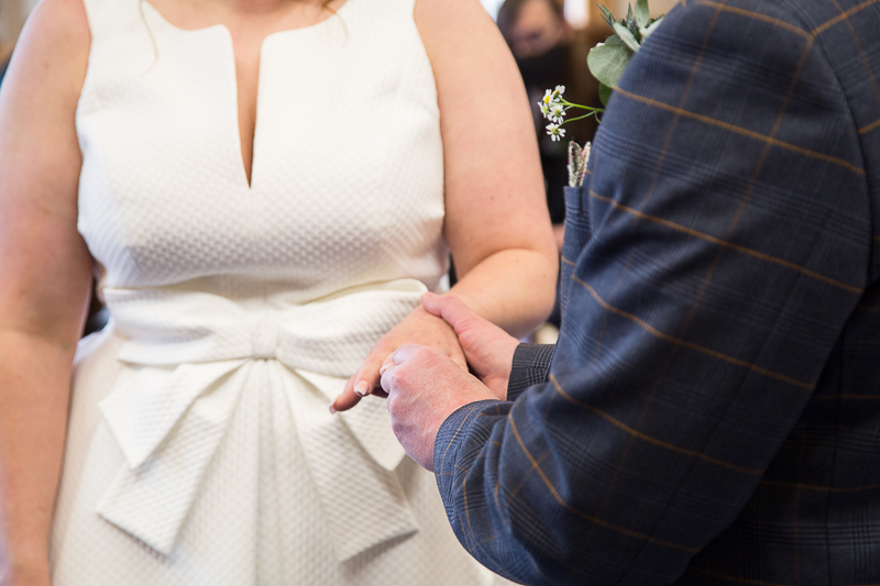 The exchange of the rings at Barnsley Town Hall wedding Photographer South Yorkshire
