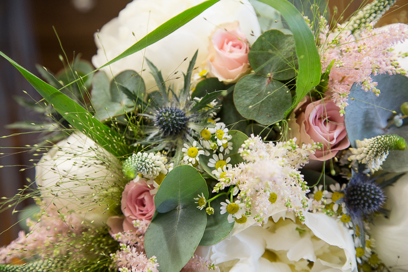 Bridal bouquet by Flourish Florists at Barnsley Town Hall