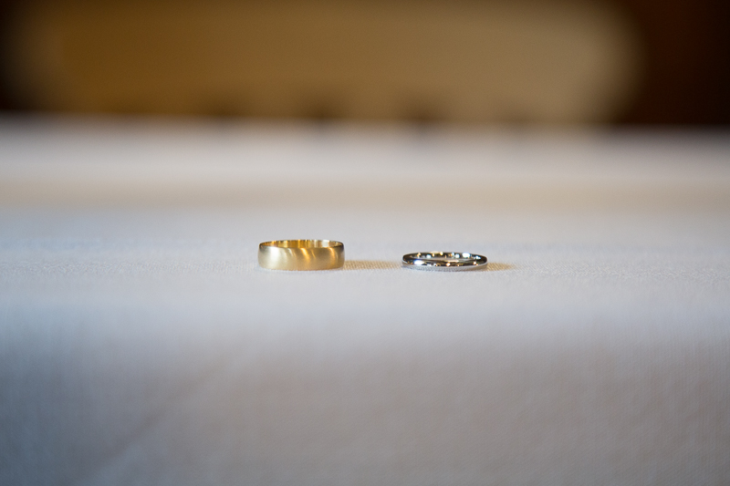 The wedding rings before the wedding ceremony