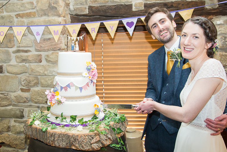 Cutting the cake at Cubley Hall South Yorkshire