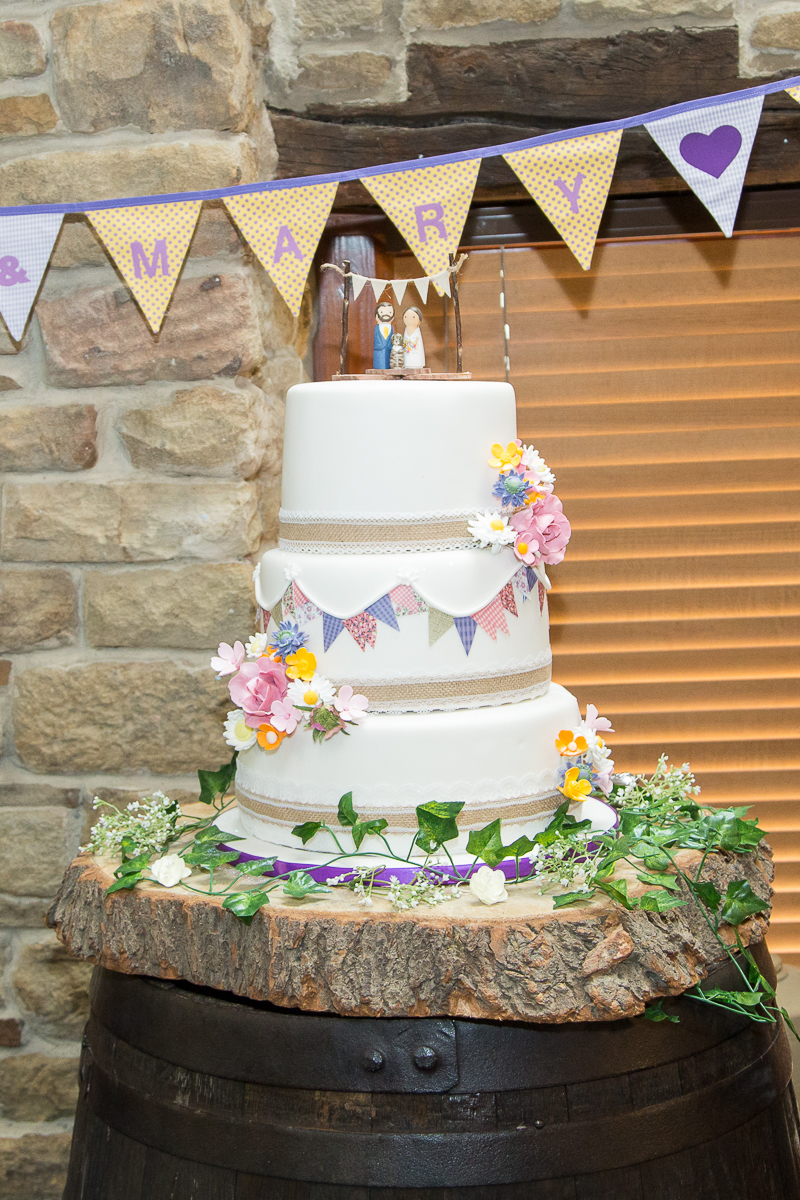 The wedding cake by Lacey Cakes of Wakefield