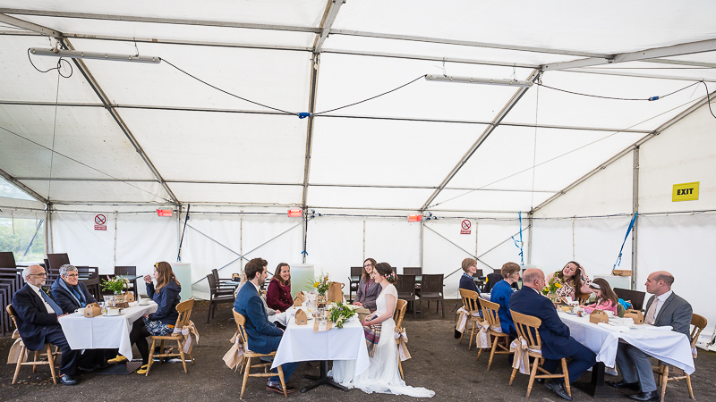 The wedding marquee at Cubley Hall Sheffield