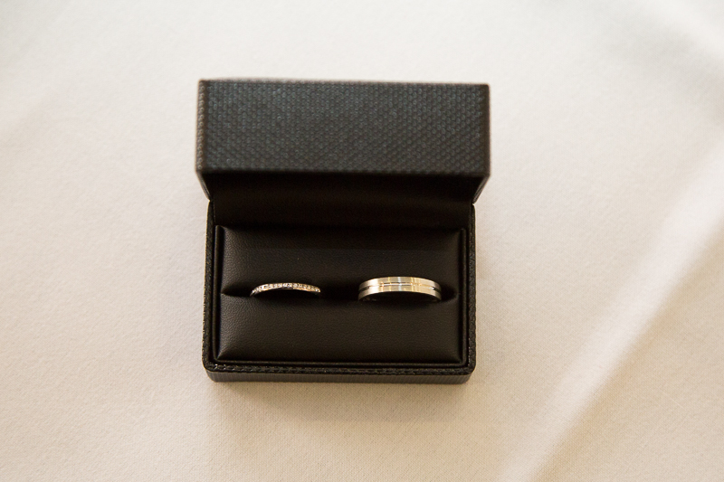 The wedding rings at Waterton Park Hotel