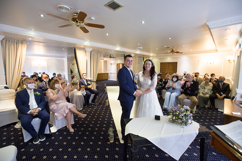 The wedding Ceremony at Waterton Park Hotel