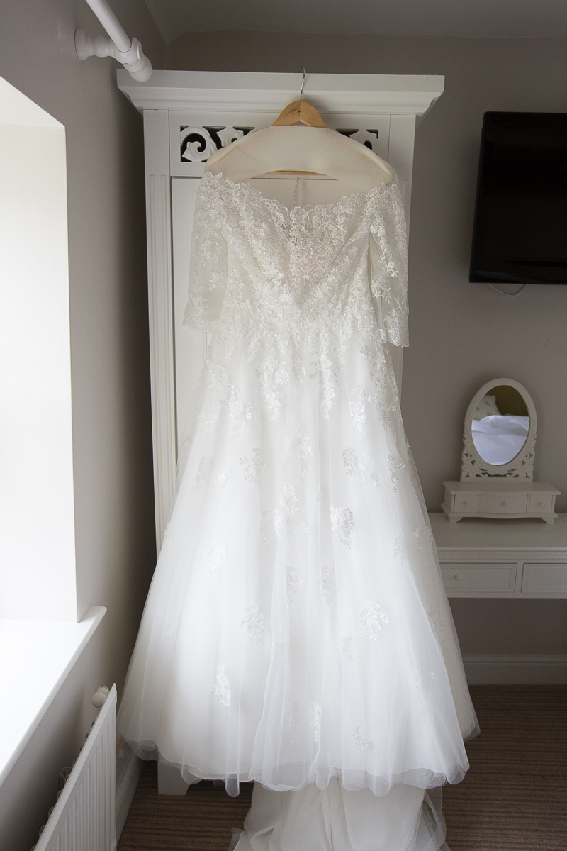 The wedding dress before it was worn