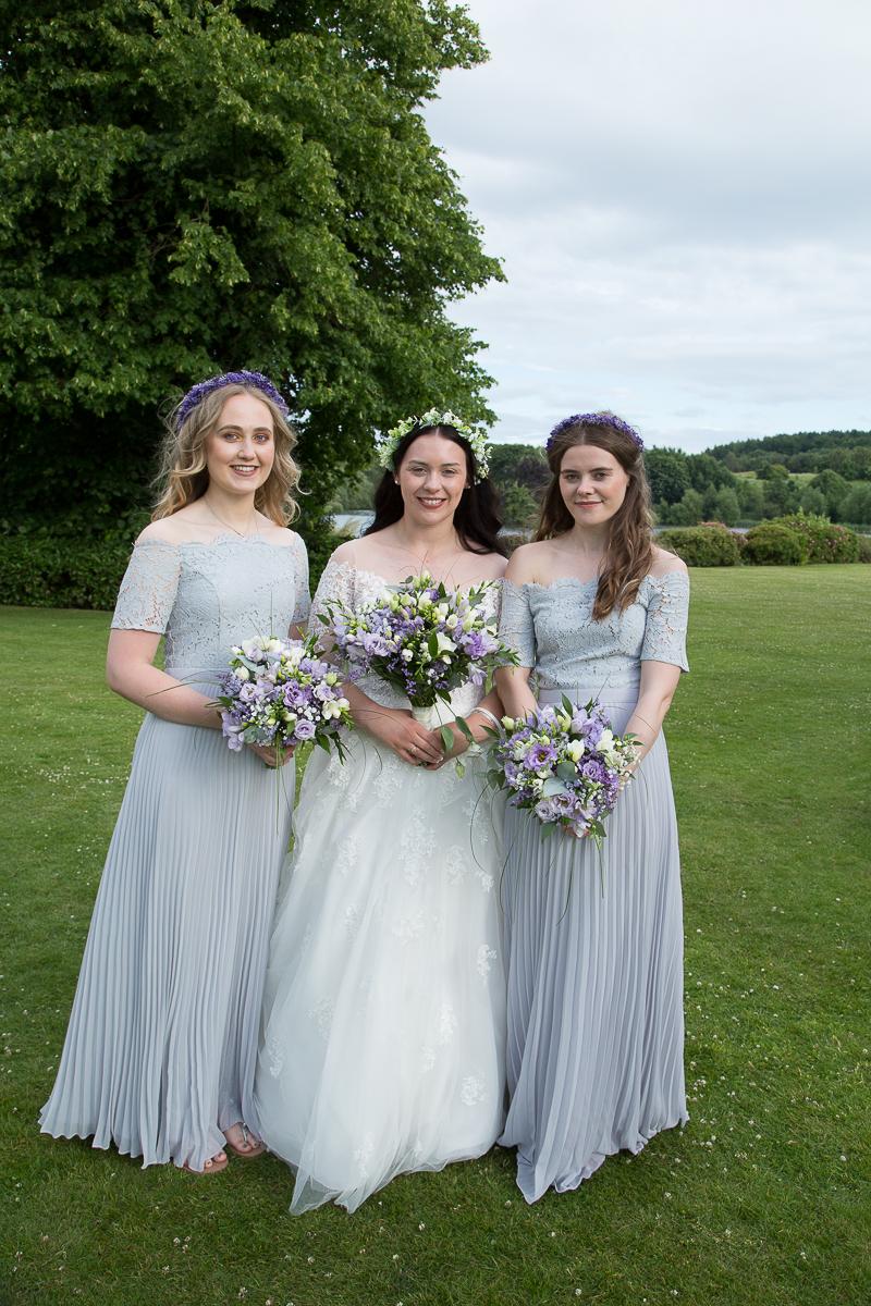 Bride & Bridesmaids at Waterton Park Hotel