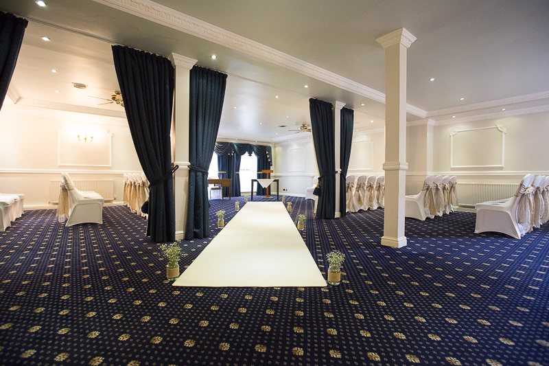 The wedding ceremony room at Waterton Park Hotel Yorkshire