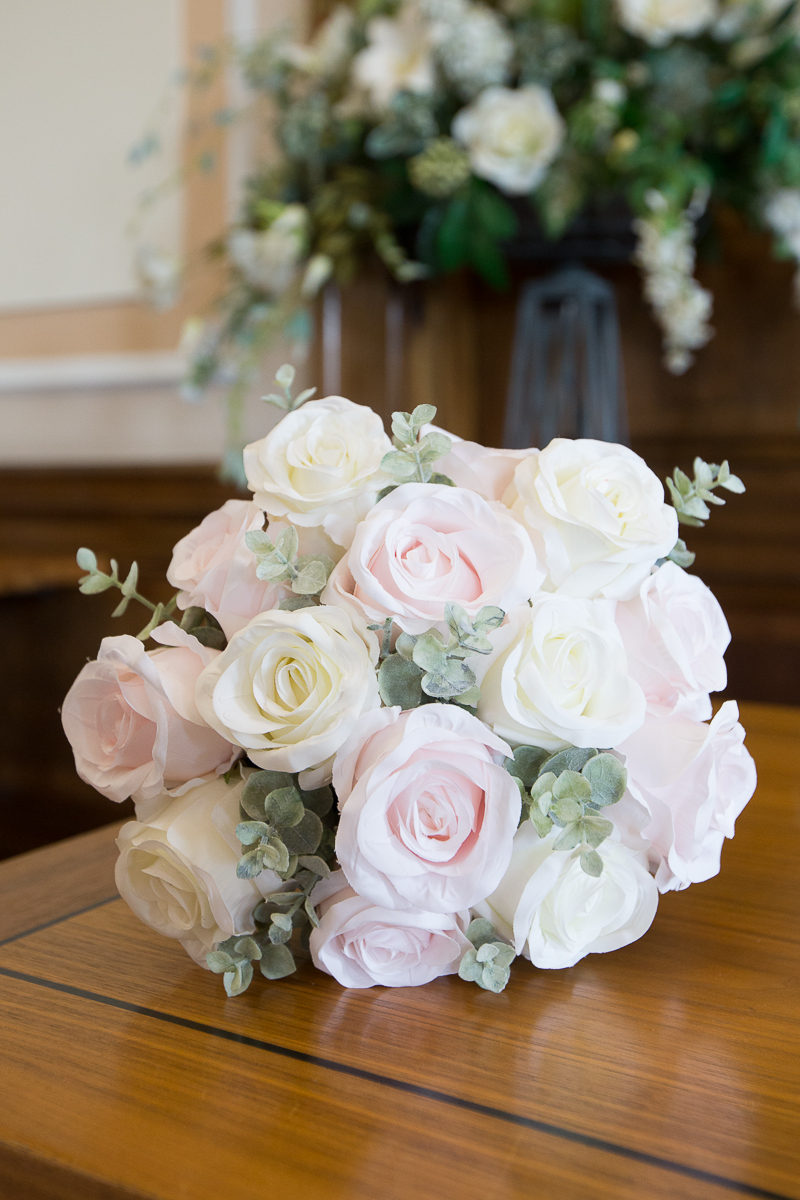 The bridal bouquet at Barnsley town Hall by Wedding Photographer South Yorkshire