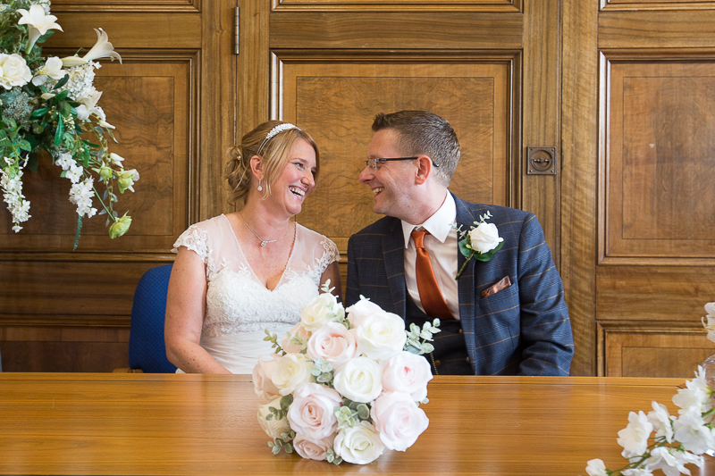 Couple after signing the marrige schedule Wedding Photographer South Yorkshire