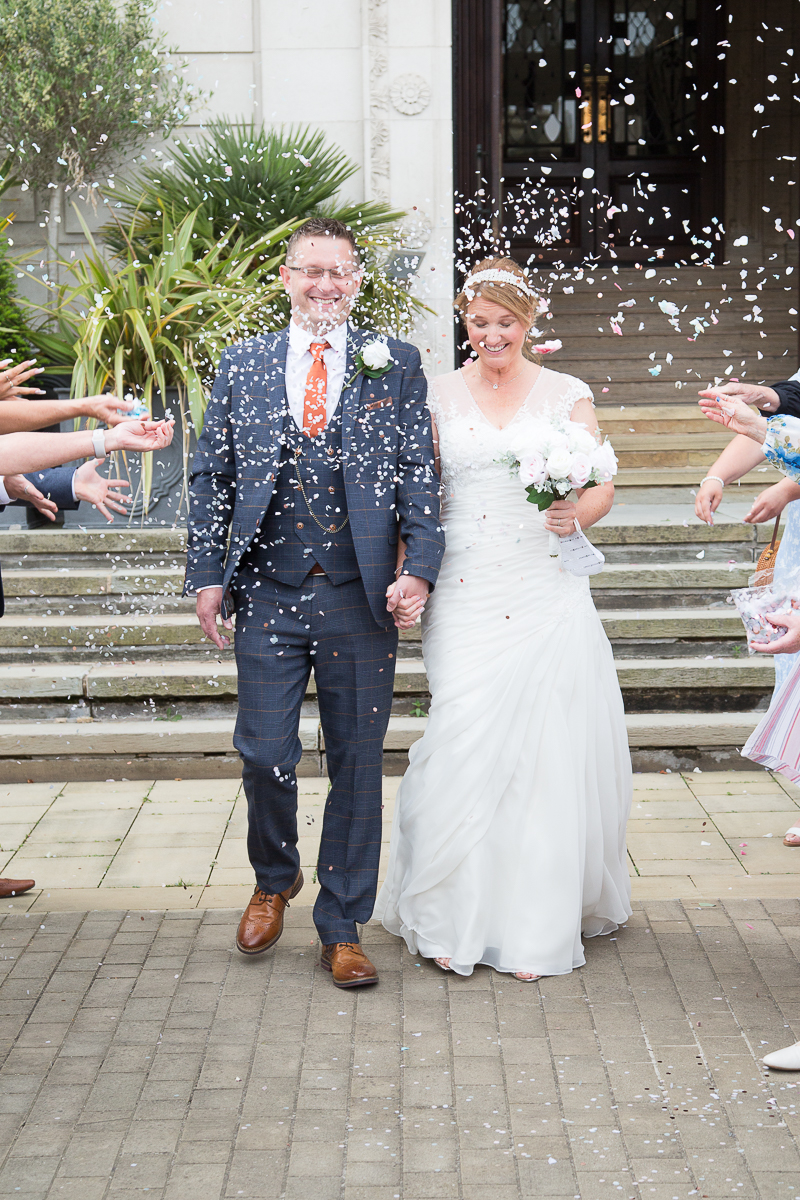 Confetti throwing at Barnsley Town Hall