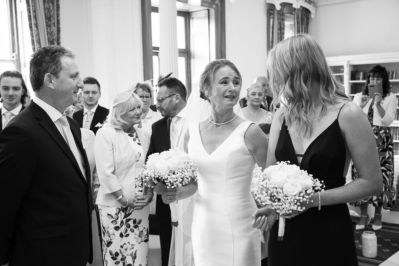 The wedding ceremony at Wortley Hall Hotel South Yorkshire