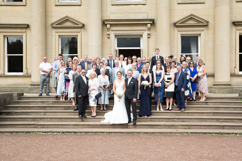 Group shots at Wortley Hall in the grounds