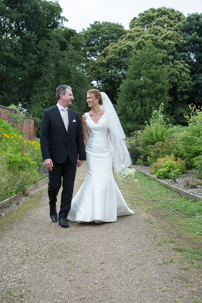 Couple photography in the grounds at Wortley Hall Hotel South Yorkshire