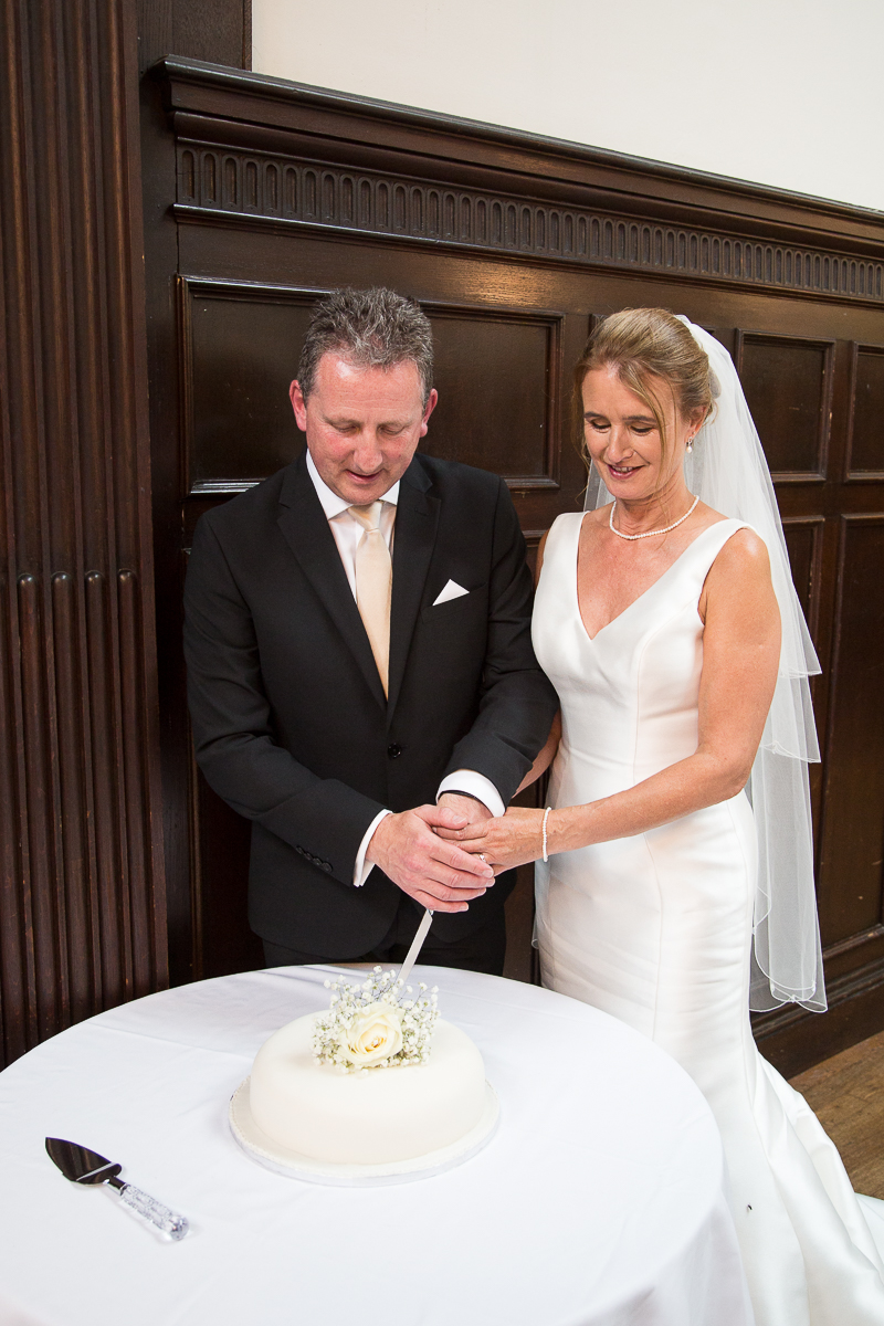 Cutting the cake at Wortley Hall Hotel