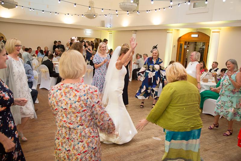 Guests on the dancefloor at Wortley Hall Hotel
