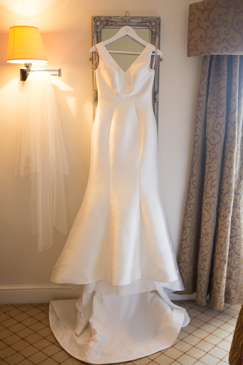 wedding dress and veil from wed2b